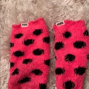 Pink socks one size